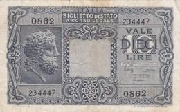 Italie - Billet De 10 Lire - 23 Novembre 1944 - [ 1] …-1946 : Kingdom