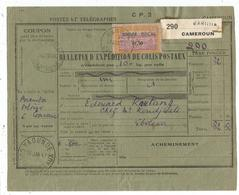 CAMEROUN 0.50 TIMBRE FISCAL BULLETIN EXPEDITION COLIS POSTAUX GAROUA 21 JANV 1947 - Cameroun (1915-1959)
