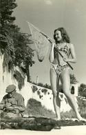RARE PIN UP FRANÇAISE - PHOTO DE CHARME - FEMME EN MAILLOT DE BAIN - SEXY - PHOTOGRAPHE GRAF A NICE - Pin-up