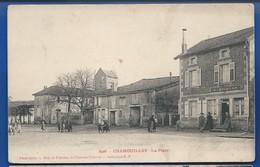 CHAMOUILLEY     La Place    Animées    écrite En 1904 - Frankrijk