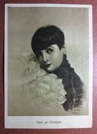 RARE! Vintage USSR Russian Postcard 1927 LYA DE PUTTI Woman - Vampire Actress Of Silent Films. Edit. Cinema Print - Acteurs