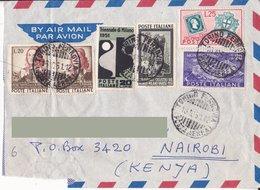 Aerogramma Diretto In Kenia Da Torino - 1951 -  Vannucci  - Triennale Di Milano - Montecassino - Ciclisti - Sardo - 6. 1946-.. Repubblica