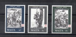 Malta - 1978 - Anniversario Della Morte Di Albrecht Durer - 3 Valori - Nuovi - Vedi Foto - (FDC15589) - Malta