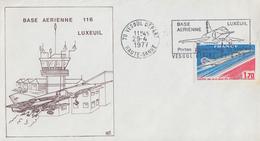 Enveloppe  FRANCE   Base  Aérienne  116   LUXEUIL  LES  BAINS   1977 - Militaria