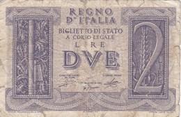 Italie - Billet De 2 Lire - 20 Mai 1935 - [ 1] …-1946 : Koninkrijk