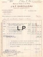 36-1842   1933 BOIS DU NORD ET DU PAYS J & F GABOULEAU A ANGOULEME - ECOLE PRATIQUE DE COMMERCE ET D INDUSTRIE A ANGOULE - 1900 – 1949