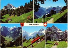 BRAUNWALD Braunwaldbahn Drahtseilbahn Linthal-Braunwald - GL Glaris