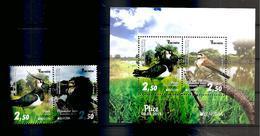 BOSNIA AND HERZEGOVINA 2019,EUROPA CEPT,NATIONAL BIRDS,BLOCK,MNH - Bosnia And Herzegovina
