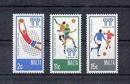 Malta - 1978 - Mondiali Di Calcio Argentina - 3 Valori - Nuovi - Vedi Foto - (FDC15591) - Malta