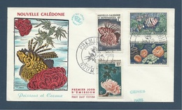 Nouvelle Caledonie 1959  Fdc 291/294 Coraux Et Poissons - Coral And Fish - FDC