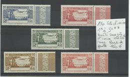 Côte D'Ivoire 1940 N° 1a/ 5a**  Variété Sans Légende, Cote YT 500€ - Elfenbeinküste (1892-1944)