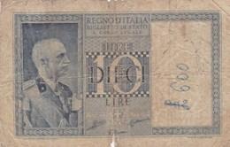 Italie - Billet De 10 Lire - Vittorio-Emanuele III - 20 Mai 1935 - [ 1] …-1946 : Royaume