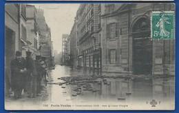 Inondation 1910   PARIS VENISE   Les Quinze-Vingts     Animées    écrite En 1910 - Floods