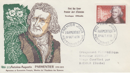 Enveloppe  FDC  1er  Jour   FRANCE   PARMENTIER    MONTDIDIER    1956 - FDC