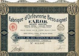 75-ORFEVRERIE BESSAIGNET F.A.B.O.R. 80 Rue Des Archives - Actions & Titres