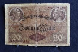 8 / Allemagne - République De Weimar, Darlehenskassenschein 5.7.1914 Zwanzig Mark / 20 Mark - N° H.Nr 3776118 - [ 3] 1918-1933 : République De Weimar