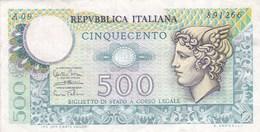 Italie - Billet De 500 Lire - 14 Février 1974 - [ 2] 1946-… : Républic