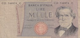 Italie - Billet De 1000 Lire - G. Verdi - 26 Février 1969 - 1000 Lire