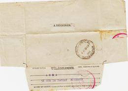 France, De Bordeaux Cal ( Central)  En 1939 Sur Télégramme , Pas Courant  TB - Marcophilie (Lettres)