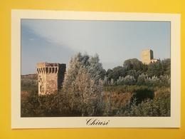 CARTOLINA POSTCARD NUOVA ITALIA ITALY TOSCANA SIENA CHIUSI VEDUTA DELLE TORRI DELLA ROCCA - Siena