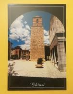 CARTOLINA POSTCARD NUOVA ITALIA ITALY TOSCANA SIENA CHIUSI VEDUTA DELLA TORRE CAMPANARIA PIAZZA DUOMO - Siena