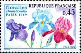 France Poste N** Yv:1597 Mi:1664 Floralies Internationales Paris Iris (Thème) - Plants