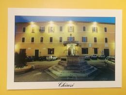 CARTOLINA POSTCARD NUOVA ITALIA ITALY TOSCANA SIENA CHIUSI VEDUTA NOTTURNA PIAZZA XX SETTEMBRE PALAZZO COMUNALE - Siena
