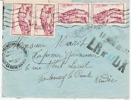 France, De La Roche Sur Yon , Recommandé Provisoire  3/48 Pas Courant  TB - Marcophilie (Lettres)