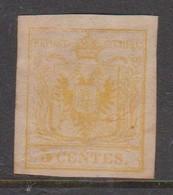Lombardy-Venetia  S 1 1850 5c Yellow, Mint No Gum - Lombardo-Vénétie