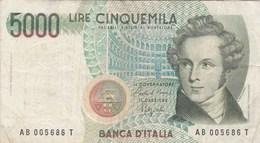 Italie - Billet De 5000 Lire - Vincenzo Bellini - 4 Juin 1985 - [ 2] 1946-… : République