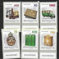 HUNGARY, 2019, MNH,POSTAL HISTORY, VEHICLES, PART III, 6v - Post