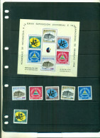 NICARAGUA EXPOSITION DE BRUXELLES 6 VAL + BF NEUFS A PARTIR DE 0.90 EUROS - Nicaragua