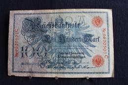12 / Allemagne -  Empire Allemand , Reichsbanknote -  100 Mark - Berlin  7. 2.1908  /  N°  Nr 9620507 D - [ 2] 1871-1918 : German Empire