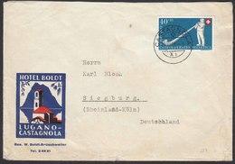 Schweiz - Switzerland  1951 Brief CASTAGNOLA - SIEGBURG Mi.559  (22773 - Schweiz