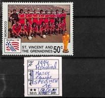 NB - [821414]TB//**/Mnh-St.Vincent & Grenadines 1994 - SPECIMEN, Mondial Maroc Equipe, Sports, Football - St.Vincent & Grenadines