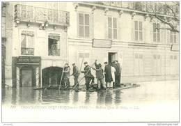 -  INONDATIONS CRUE  - LE RADEAU QUAI DE BILLY - Bb-712 - Paris Flood, 1910