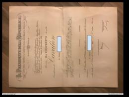 1970 Diploma Cavaliere Della Repubblica Firma Saragat - Diplomi E Pagelle