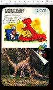 Humour Dinosaures Diplodocus Parc De Saint-Vrain (Essonne)  Animaux Préhistoriques Tricot Laine D36 - Old Paper
