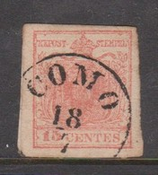 Lombardy-Venetia  S 6 1850 15c Red, Used - Lombardy-Venetia