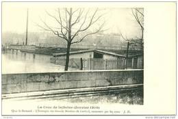 INONDATIONS DE PARIS 1910      - QUAI SAINT-BERNARD -     Bb-713 - Floods