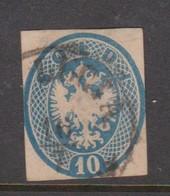 Lombardy-Venetia  S 39 1863 Arms 10s Blue, Used - Lombardy-Venetia