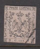 Modena Newspaper Stamp S 1 1853 Arms 9c Violet Grey, Used - Modène
