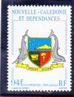 Nlle Calédonie 1986 Armoiries Du Mont Dore  N° YT 524 Neuf** - Nouvelle-Calédonie