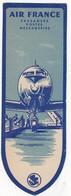 Marque Pages - Air France( Réseau Aérien Mondial) - Avion - Transport - Marque-Pages
