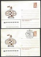 Chess, USSR Tallinn, Feb/Mar 1983, Cancel & Cachet On Envelope & Unused Envelope, International Tournament - Chess