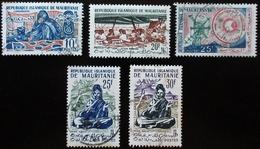 Mauritanie 5 Valeurs Danse Assise - Ecole - Cordonnière - Année Du Soleil - Mauritania (1960-...)