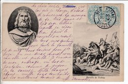 Cpa Carte Postale Ancienne  - Clovis Bataille De Tolbiac - Storia