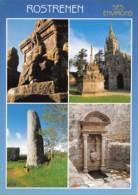 ROSTRENEN Le Menhir De Glomel L Enclos De Kergrist Moelou Et Son Calvaire La Fontaine 24(scan Recto-verso) MA2049 - Autres Communes