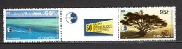 Nlle CALEDONIE  PA N° 339A   NEUF SANS CHARNIERE  COTE 5.50€  SALON PHILATELIQUE  PAYSAGE  MER - Airmail