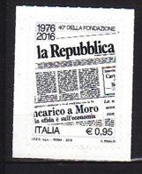 PGL DE0351 - ITALIA REPUBBLICA 2016 SASSONE N°3656 ** - 2011-...:  Nuovi